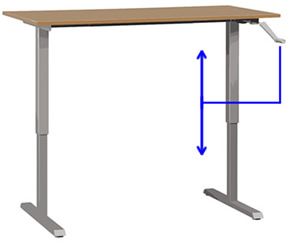 Desk with Height Adjust Feature